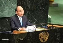 Thủ tướng Nguyễn Xuân Phúc phát biểu tại phiên họp Cấp cao Đại hội đồng LHQ kỷ niệm 75 năm thành lập