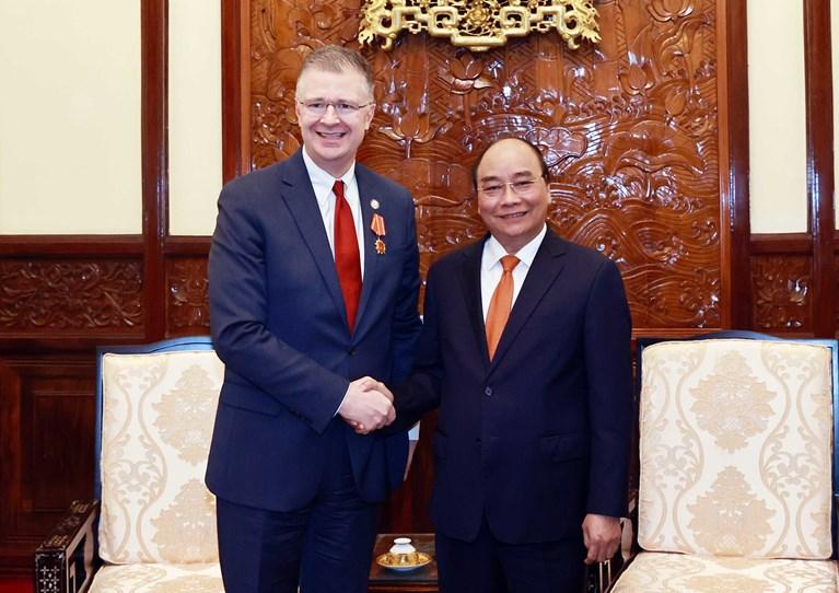 Đại sứ Mỹ chào từ biệt Tổng Bí thư Nguyễn Phú Trọng và Chủ tịch nước Nguyễn Xuân Phúc
