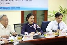 Gặp gỡ hữu nghị nhân kỷ niệm 50 năm ký kết Hiệp ước hòa bình nhân dân Việt - Mỹ