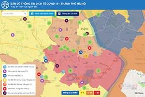 Hà Nội ra mắt bản đồ thông tin dịch tễ Covid-19
