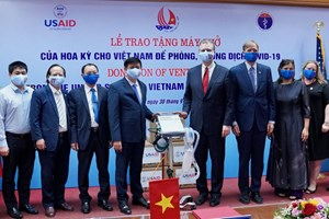 The United States awarded Vietnam 100 ventilators worth 1 7 million USD
